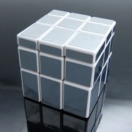 GhostHand (GS) Silver Mirror 3X3 Speed Cube White