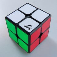 FangShi Shishuang 2x2 Magic Cube Puzzle Cube Black with Tile