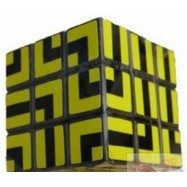 Maru 3x3x3 XWH Maze Sytle Magic Cube Yellow