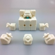 YJ Yongjun Mini Aolong 54.5mm 3x3x3 Magic Cube White